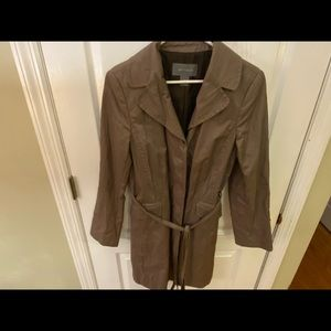 Ann Taylor Jackets Amp Coats New Silk Ruffle Trench Coat